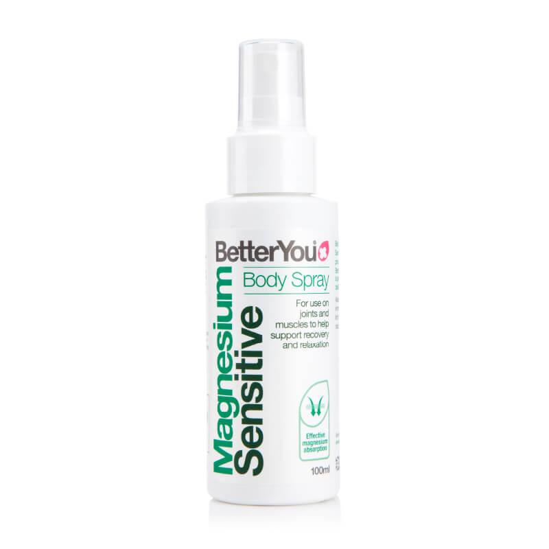 Magnezijevo olje za občutljivo kožo, magnezij sensitive. Prehranska dopolnila. BetterYou, Sitis.