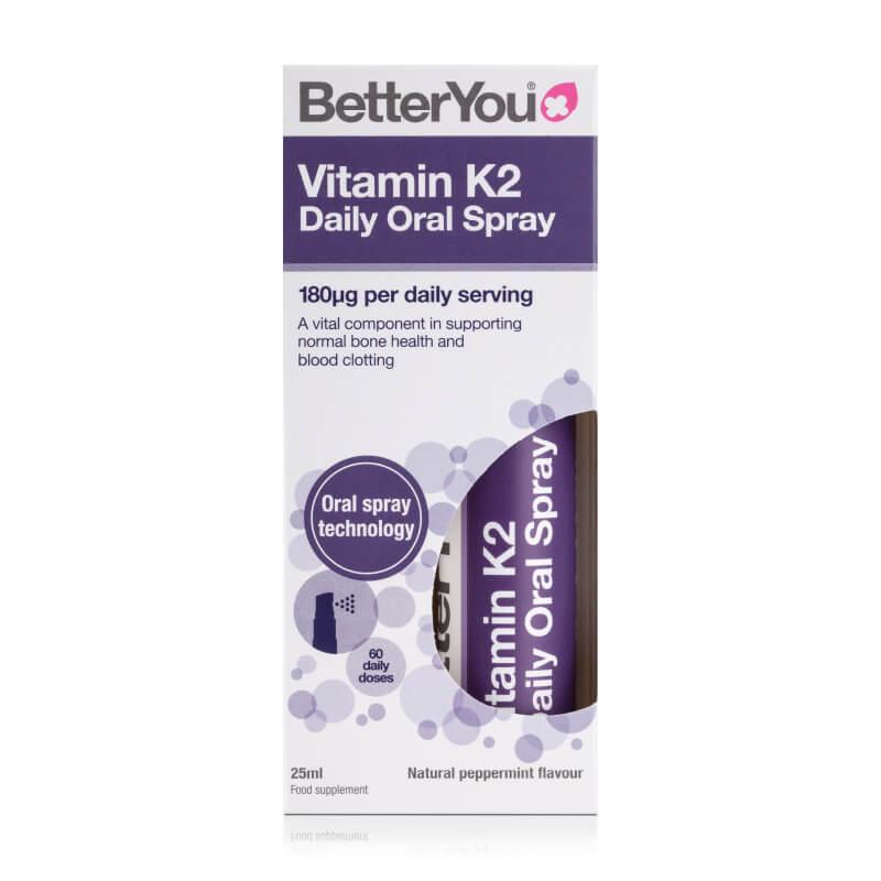 Vitamin K2 v spreju. Prehransko dopolnilo v spreju. Sitis, BetterYou.
