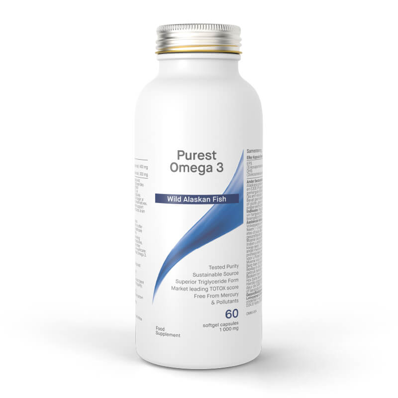 Purest OMEGA-3, prehransko dopolnilo. Najčistejša omega-3 iz aljaškega polaka. Sitis, Biomax.