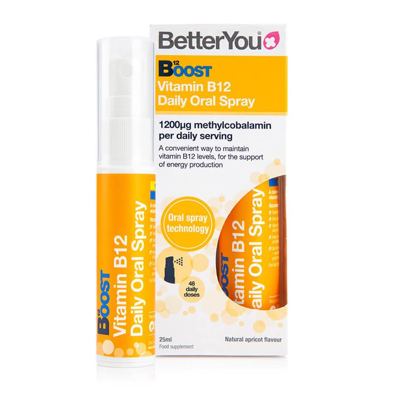Boost B12, prehransko dopolnilo v spreju. Vitamin B. Sitis, BetterYou.