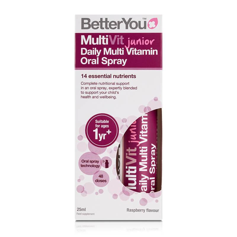 MultiVit Junior, prehransko dopolnilo v spreju. Primerno za otroke. Sitis, BetterYou.