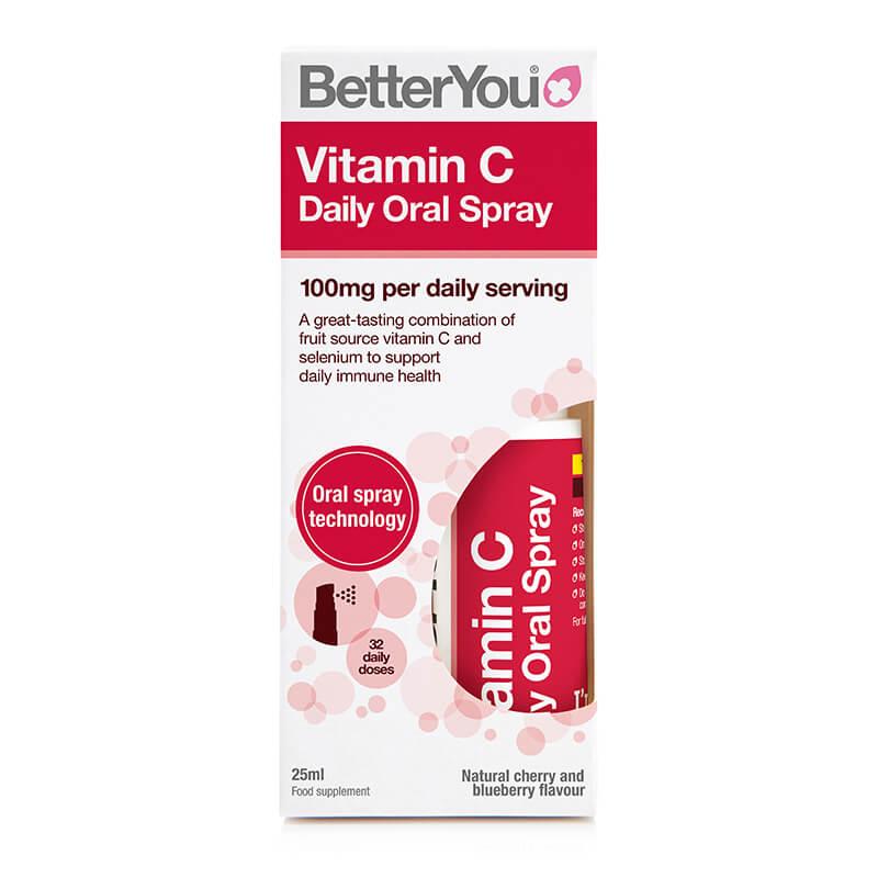 Vitamin C, prehransko dopolnilo v spreju. Sitis, BetterYou.