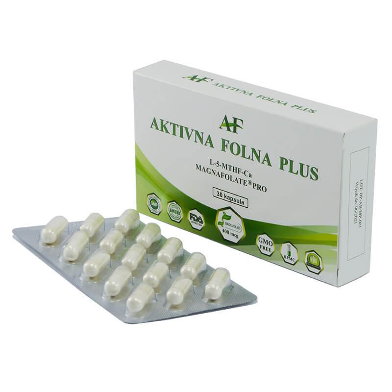 Aktivna folna plus, 30 tablet. Prehranska dopolnila Sitis.